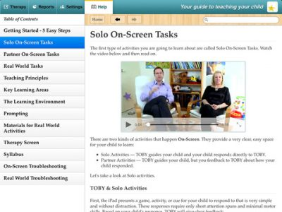 TOBY Autism Therapy – On Screen & Real World Play Based Interactive Activites - Screenshot