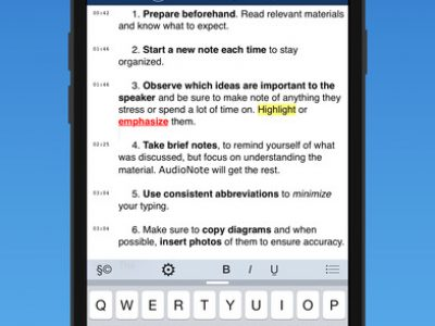 AudioNote – Notepad and Voice Recorder - Screenshot