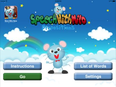 Speech with Milo: Prepositions - Screenshot