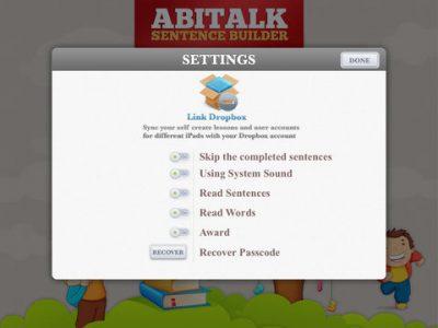 Sentence Builder App - Screenshot